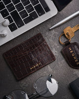 Earth Brown Card Holder