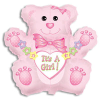 It's a Girl Bear Balloon-Jumbo