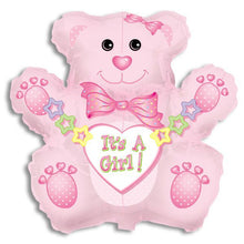 Load image into Gallery viewer, It's a Girl Bear Balloon-Jumbo