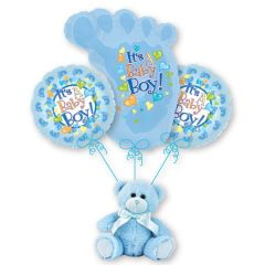 Blue Baby Feet Bouquet