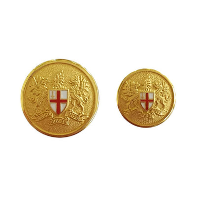 Tyler & Tyler Blazer Gold Single Breasted Button Set | London Coat of Arms
