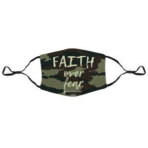 Faith Over Fear Camo Face Mask/Dust Mask with Filter Element - Zee Grace Tee