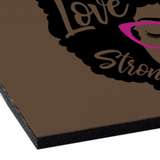 "BLACK AFRO QUEEN: Rubber Floor Mat Rubber Carpet 16"" x 24"""
