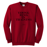 YOUNG KING IN TRAINING: YOUTH CREWNECK SWEATSHIRT - Zee Grace Tee