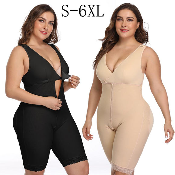 S-6XL Full Body Slimming Thigh Trimmer Bodysuit Shapewear