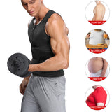 Men's Waist Trainer Sauna Vest Double Belt Shapewear