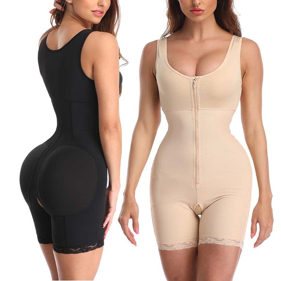 Post Surgical High Waist Butt Lifter Body Shaper with Open Crotch