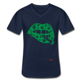 WEED LIPS: Men's V-Neck T-Shirt - Zee Grace Tee