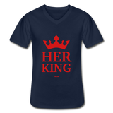 HER KING: Men's V-Neck T-Shirt - Zee Grace Tee