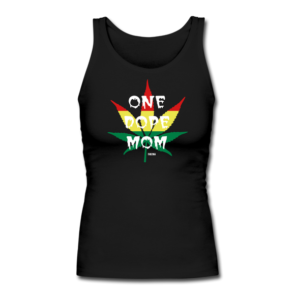 ONE DOPE MOM: Women's Longer Length Fitted Tank - Zee Grace Tee
