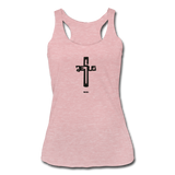 Jesus: Women's Tri-Blend Racerback Tank - heather dusty rose