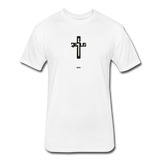 Jesus: Fitted Cotton/Poly T-Shirt by Next Level - white