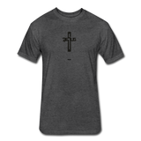 Jesus: Fitted Cotton/Poly T-Shirt by Next Level - heather black