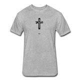 Jesus: Fitted Cotton/Poly T-Shirt by Next Level - heather gray