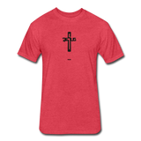 Jesus: Fitted Cotton/Poly T-Shirt by Next Level - heather red