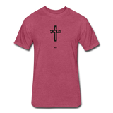 Jesus: Fitted Cotton/Poly T-Shirt by Next Level - heather burgundy