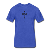 Jesus: Fitted Cotton/Poly T-Shirt by Next Level - heather royal