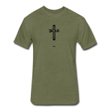 Jesus: Fitted Cotton/Poly T-Shirt by Next Level - heather military green