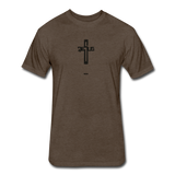 Jesus: Fitted Cotton/Poly T-Shirt by Next Level - heather espresso