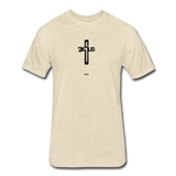 Jesus: Fitted Cotton/Poly T-Shirt by Next Level - heather cream