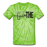 Keep The Faith: Unisex Tie Dye T-Shirt - spider lime green