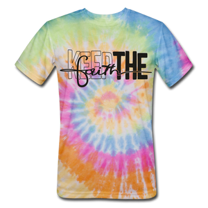 Keep The Faith: Unisex Tie Dye T-Shirt - rainbow