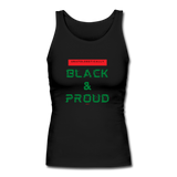 Unapologetically Black & Proud: Women's Longer Length Fitted Tank - black