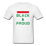 Unapologetically Black & Proud: Men's T-Shirt - white