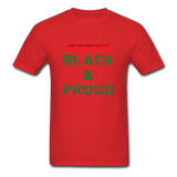 Unapologetically Black & Proud: Men's T-Shirt - red