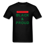Unapologetically Black & Proud: Men's T-Shirt - black