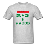 Unapologetically Black & Proud: Men's T-Shirt - heather gray