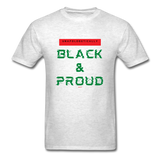 Unapologetically Black & Proud: Men's T-Shirt - light heather gray