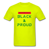 Unapologetically Black & Proud: Men's T-Shirt - safety green