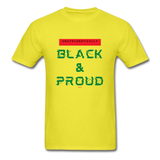 Unapologetically Black & Proud: Men's T-Shirt - yellow