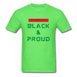 Unapologetically Black & Proud: Men's T-Shirt - kiwi
