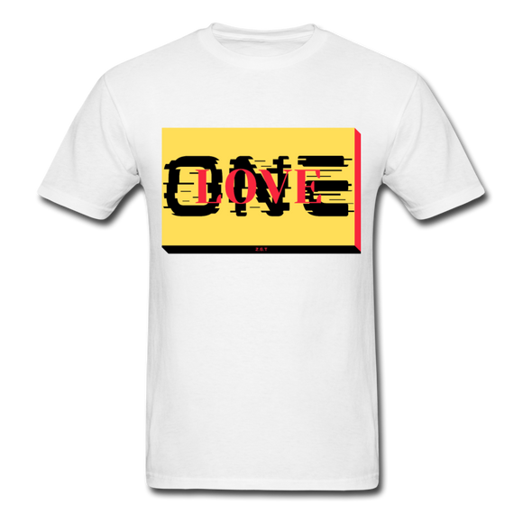 ONE LOVE/red/yellow/black: Men's T-Shirt - white