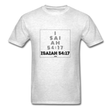 ISAIAH 54:17: Unisex Classic T-Shirt - light heather gray