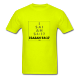 ISAIAH 54:17: Unisex Classic T-Shirt - safety green