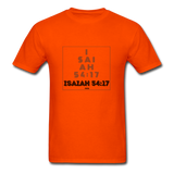 ISAIAH 54:17: Unisex Classic T-Shirt - orange