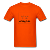 JOHN 3:16: Unisex Classic T-Shirt - orange