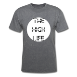 The High Life/white circle: Unisex Classic T-Shirt - mineral charcoal gray