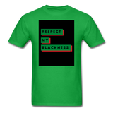 Respect My Blackness: Unisex Classic T-Shirt - bright green