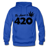 THE ANSWER IS 420: Gildan Heavy Blend Adult Hoodie - royal blue