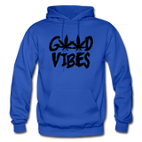 GOOD VIBES: Gildan Heavy Blend Adult Hoodie - royal blue