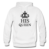 HIS QUEEN: Gildan Heavy Blend Adult Hoodie - white