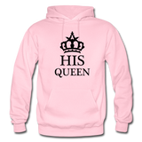 HIS QUEEN: Gildan Heavy Blend Adult Hoodie - light pink