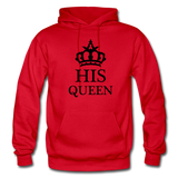 HIS QUEEN: Gildan Heavy Blend Adult Hoodie - red