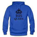 HIS QUEEN: Gildan Heavy Blend Adult Hoodie - royal blue