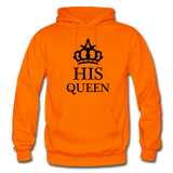 HIS QUEEN: Gildan Heavy Blend Adult Hoodie - orange