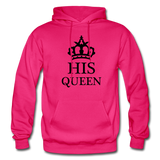 HIS QUEEN: Gildan Heavy Blend Adult Hoodie - fuchsia